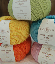 [Rowan]wool cotton 4ply